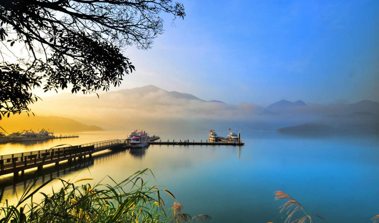 озеро, природа, нравится, закат, красавица, share, природы, причал, жалюзи, zakat,