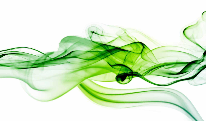 зелёный, дым, white, фон, blue, preview,
