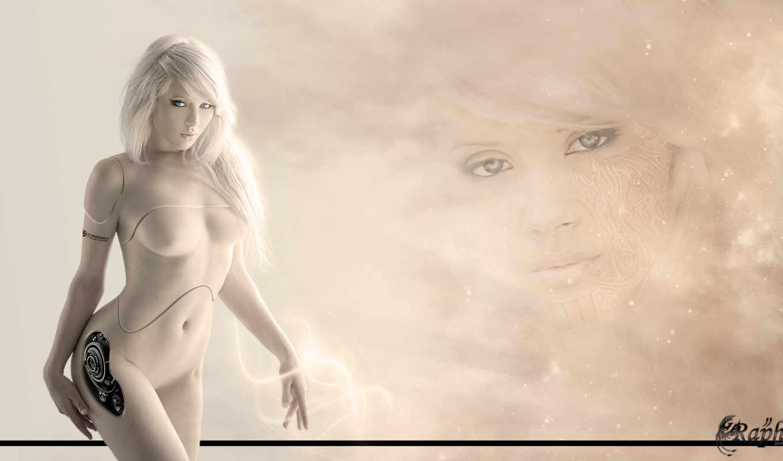 robot, девушка, cyborg, посетитель, уважаемый, fantasy, art, зашли,