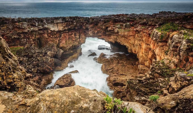 море, скалы, побережье, tapety,