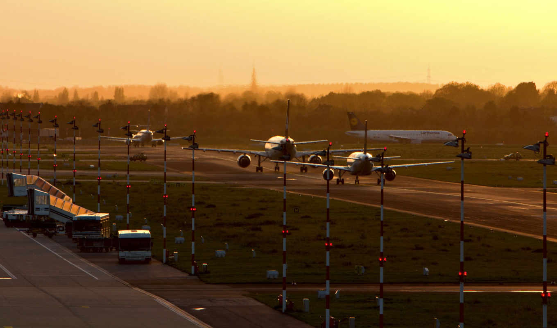 аэропорт, самолеты, пооса, утро, aircraft, wallpaper, картинка, wallpapers, обоев, имеет, горизонтали, widescreen, широкоформатные, вертикали,