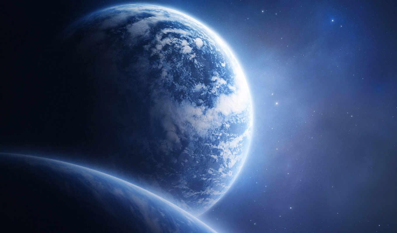 планеты, звезды, космос, облака, планета, другие,