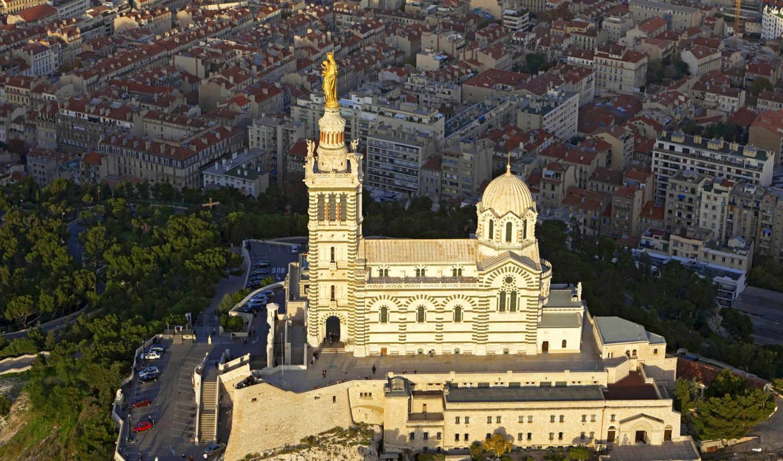 garde, dame, notre, франция, marseille, bouches, basilica, dam, храмы,