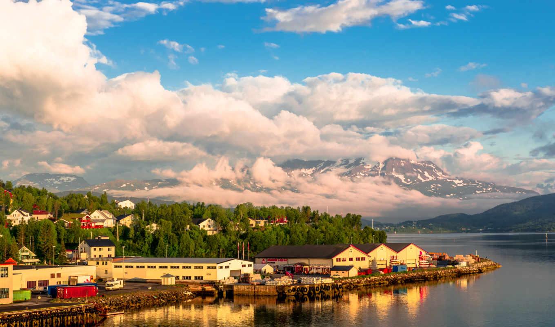 ,город,Норвегия,гора,река.