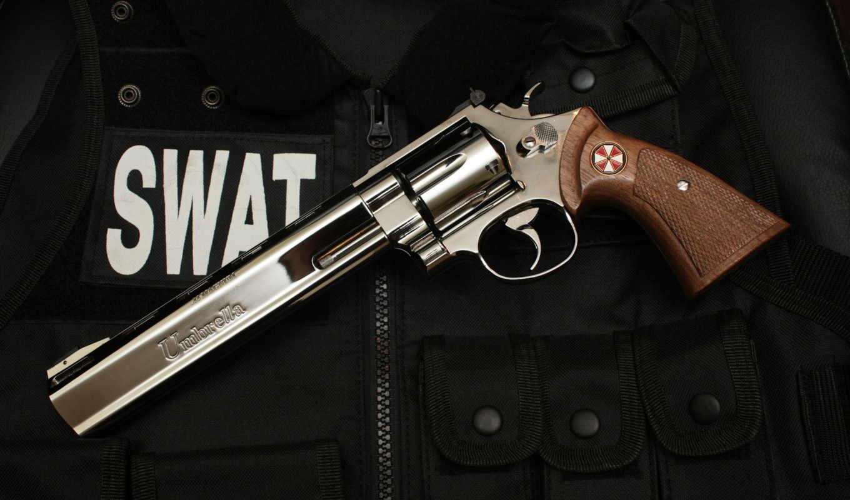 swat, револьвер, umbrella, картинка, weapons, theme, windows, картинку, great, огнестрельным, красивым, оружием,