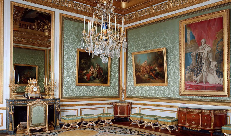 версаль, франция, interer, дворец, dizain, люстры,