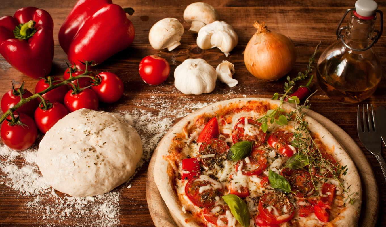 мука, лук, тесто, пицца, помидоры, cookie, forno, legna,