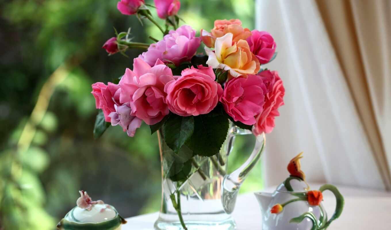 букет, цветов, роз, красивые, разных, cvety, красивый, букеты, различных,