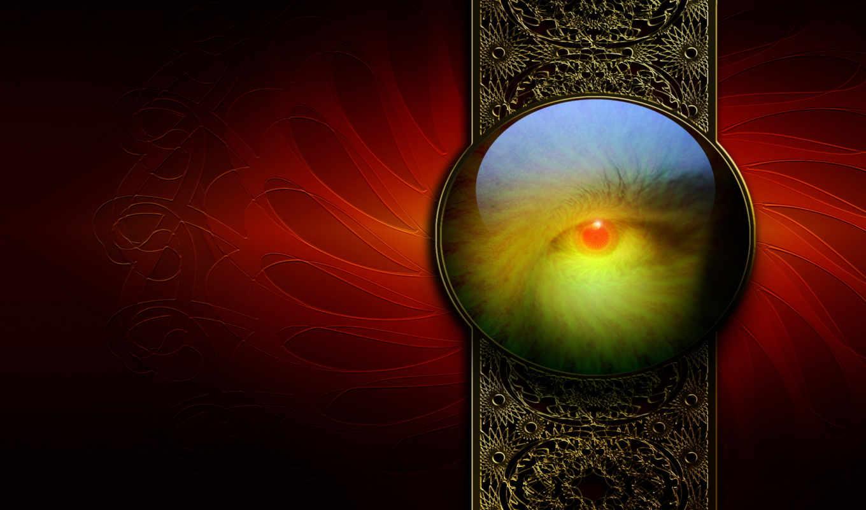fractal, circle, red, eye, pack, абстракция, full, elegance, креатив, фракталы,