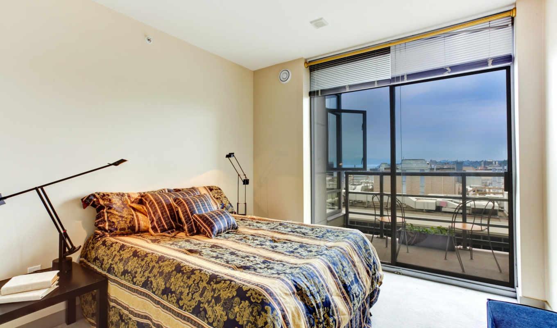 балкон, спальня, stock, интерьер, photos,