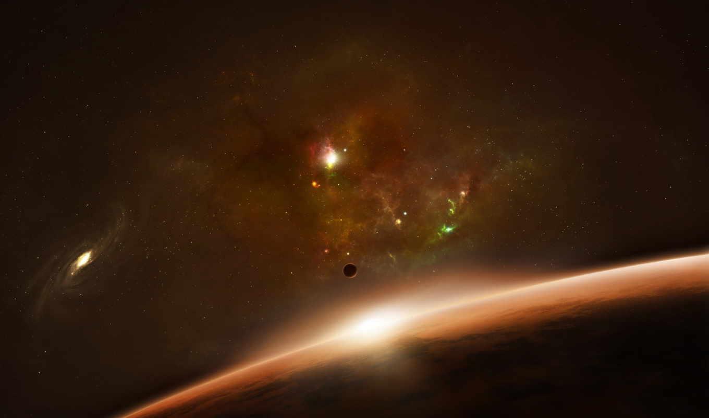 галактика, взгляд, космоса, космос, планеты, планета, звезды,