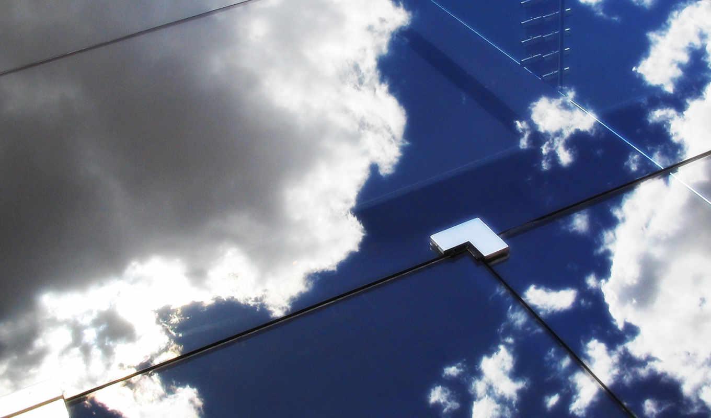 загрузил, мэри, отражение, небо, glass,