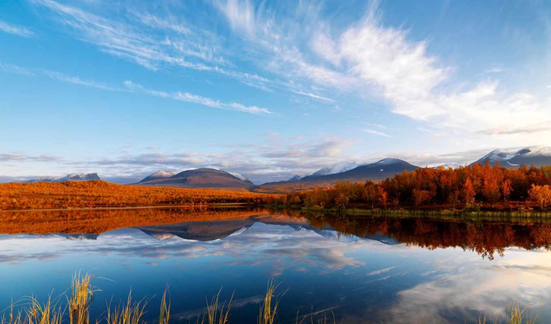 лес, озеро, природа, осень, осеннее, favourite,