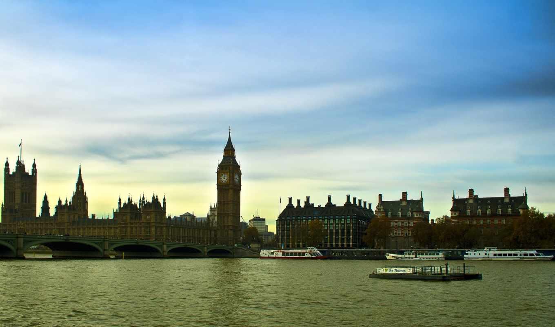 лондон, англия, темза, картинка, картинку,