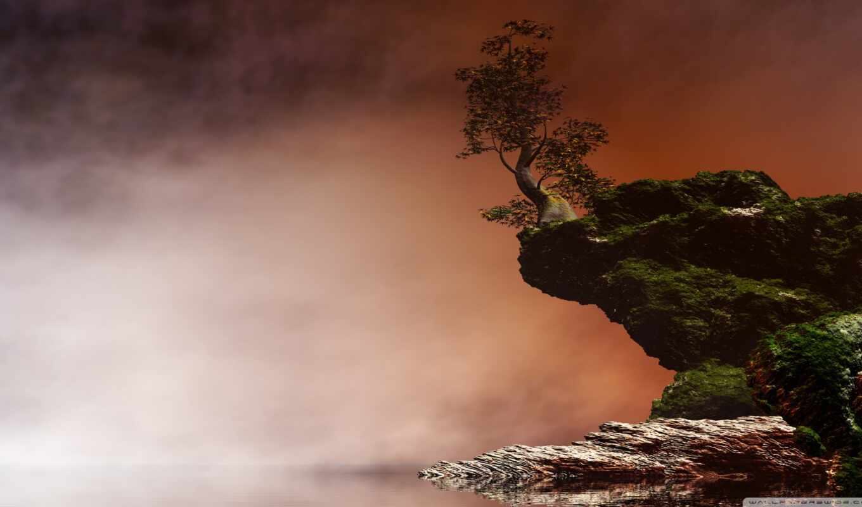 landscape, defiant, digital, озеро, angel, natural, arte, art, godazhivotnyeabstrakciya, pantalla