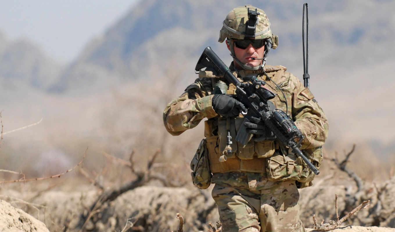 оружие, автомат, солдат, экипировка, оптика, очки