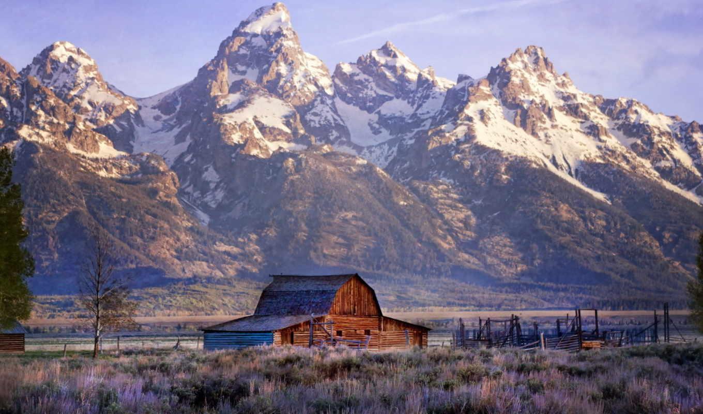grand, teton, park, national, mountains, free,