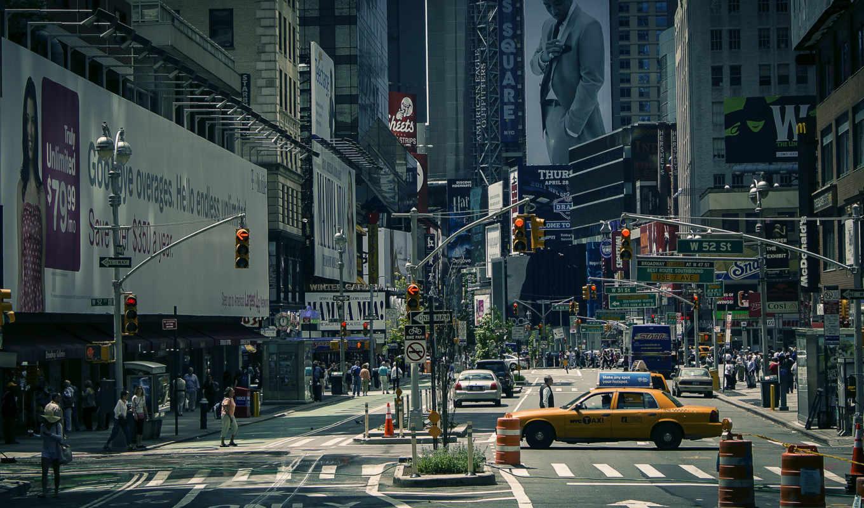 york, город, new, улица, square, usa,