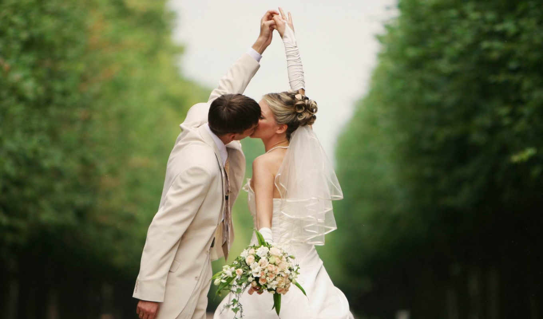 поцелуй, невеста, пара, ухоженность, ситуации, everything, свадебный, замуж,