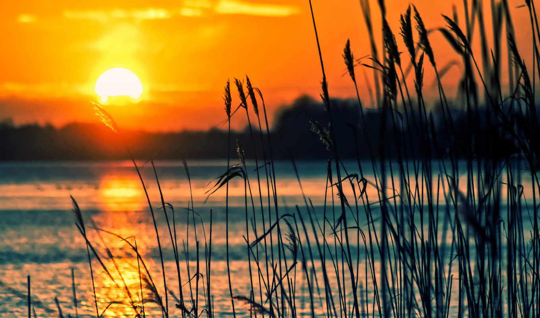 закат, озеро, free, images, pixabay, desktop,