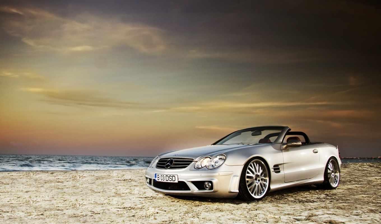 mercedes, авто, wallpaper, benz, песок, код, пейзаж, пляж, class, кабриолет, sl,