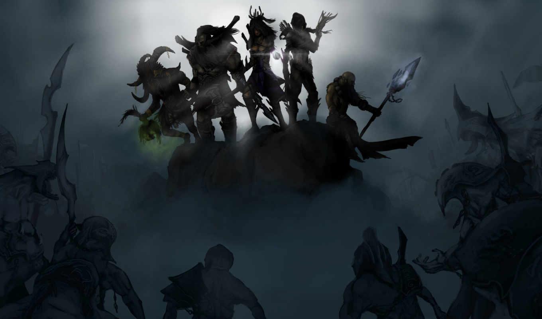 diablo, шаман, колдун, варвар, арт,