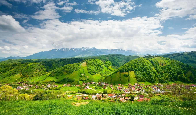pack, небо, деревня, стандартные, самые, дома, best, широкоформатные,