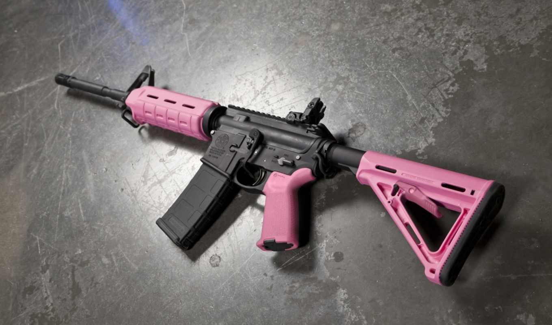 pink, guns, defense, weapons, camo, girl, gun,