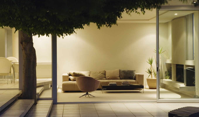 design, интерьер, диван, картинка, подушки, столик, white,