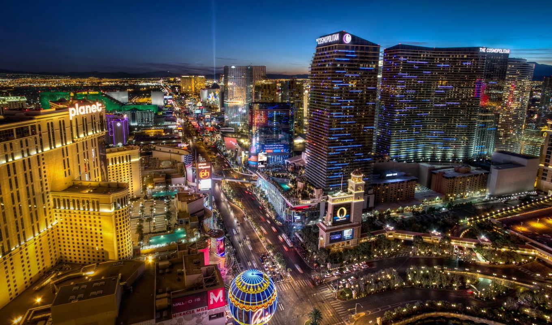vegas, las, город, фотообои, города, ночь,
