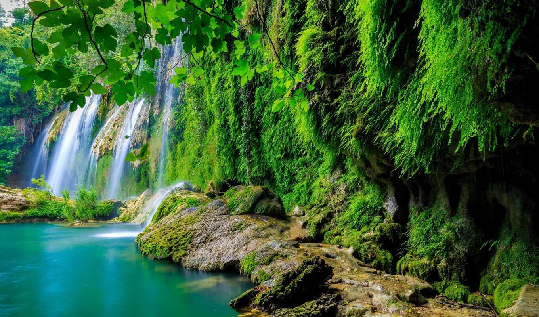 водопад, priroda, красивый, les, tropicheskii, мох, vesna, pk, пейзаж, бесплатный