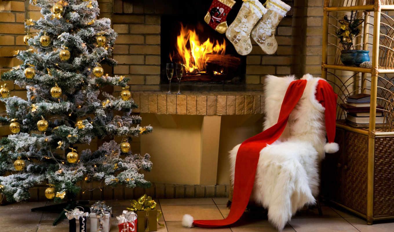 christmas, санта, дом, клауса, tree, desktop, картинка, claus, праздник,