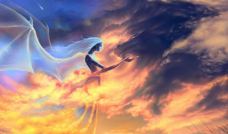 dragon, fantasy,