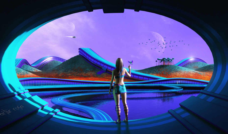 life, you, sci, resolution, futuristic, desktop, views,