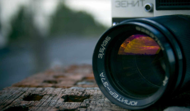зенит, фотоаппарат, объектив, макро, кирпич