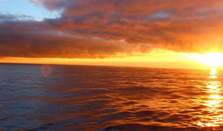 закат, ocean, resolution,