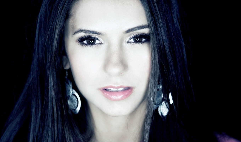 глаза, волосы, черные, тёмные, лицо, взгляд, nina, добрев, девушки,