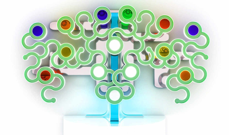 абстракция, дерево, white, кружки,