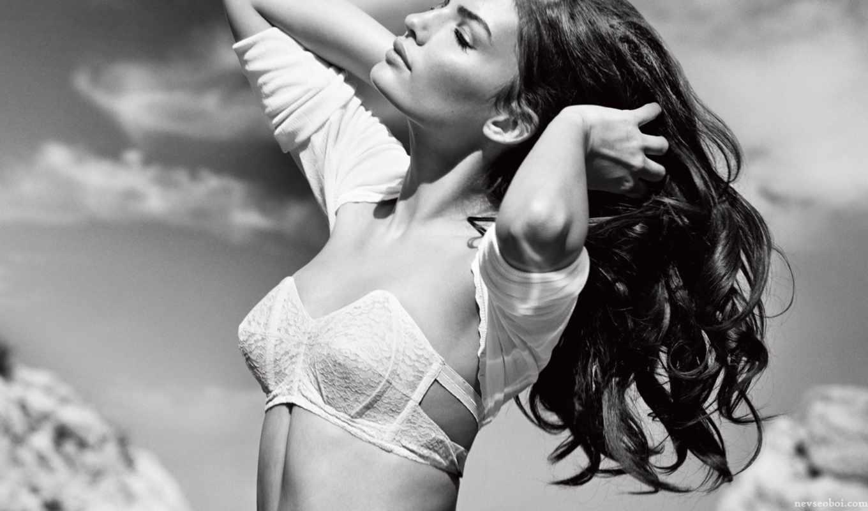 ретро, красавица, волосы, alyssa, миллер, white, модель, белье, supermodel, long,