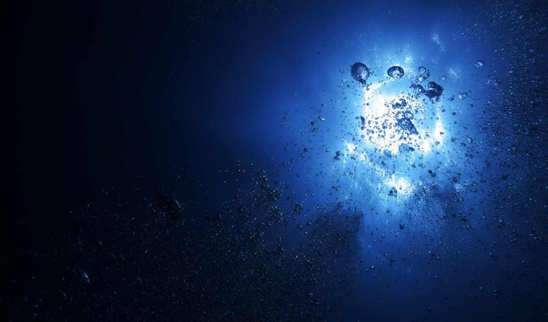 depth, water, ocean, океана, пузыри, глубин, свет, разное, фотографий, море, интересные,