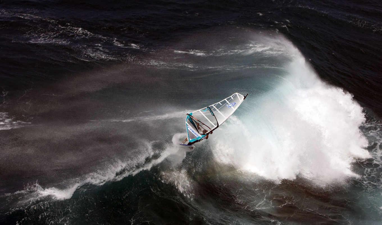 волны, океан, sport, парус, sea, экстрим, стихия, серфер,