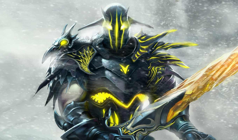 меч, воин, фэнтези, доспехи, мечом, fantasy, dota, visitor, diablo, герой, игра, демон, игровые, картинку, great, монстр, background,