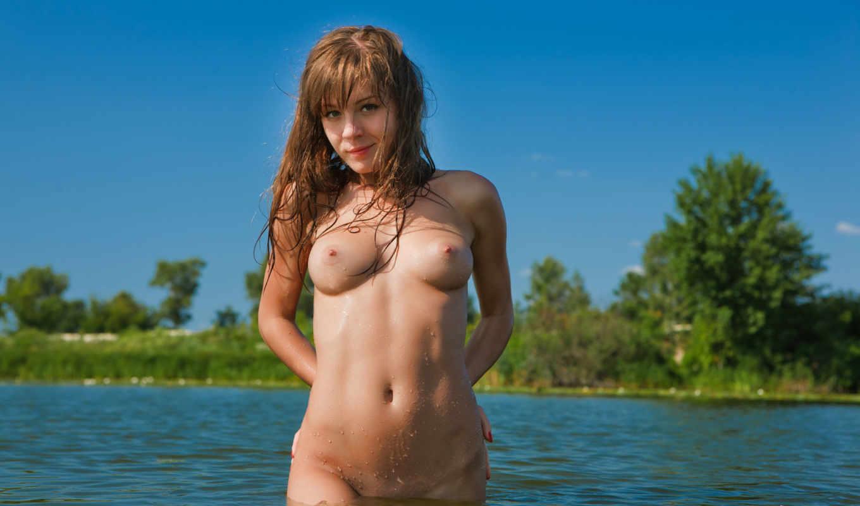 озеро,эротика,девушка,грудь,титьки,вода,рыжая,