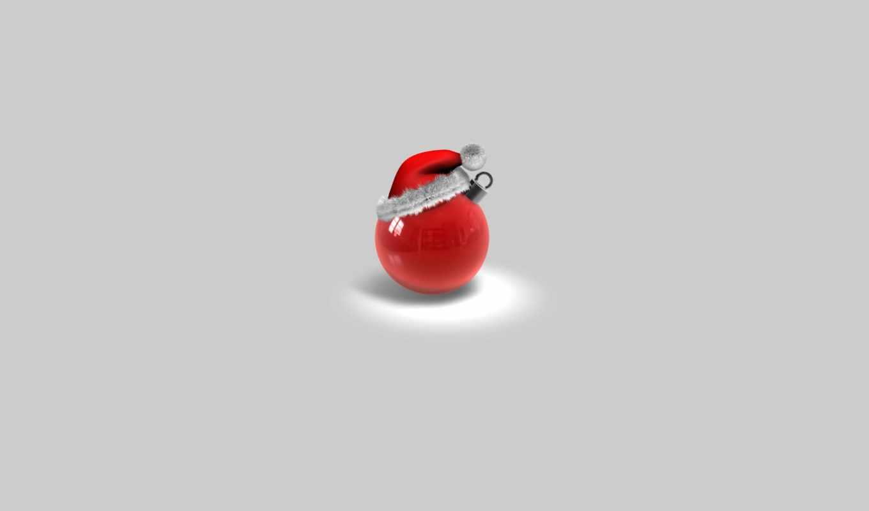 креатив, год, новый, шар, минимализм, праздник, шапка,