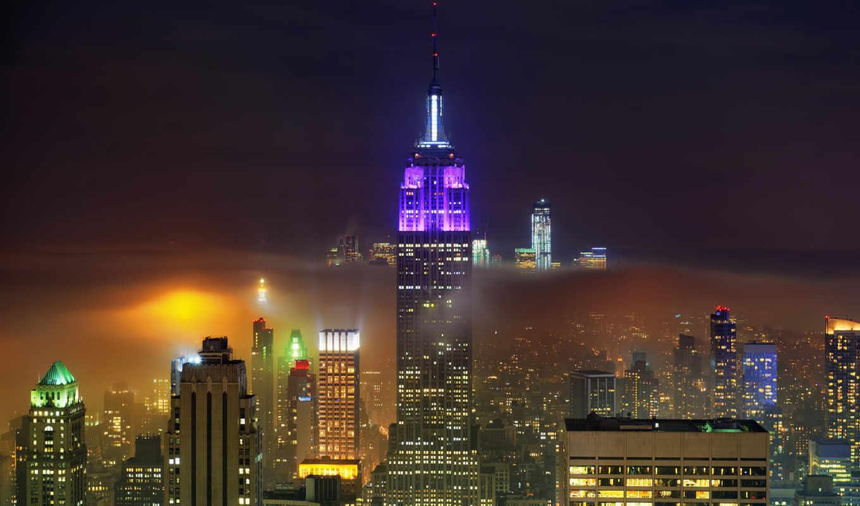 нью, york, россия, desktop, картинка, города, часть, landscape, облака, центр, страница, trade, ночь, год, new, world,
