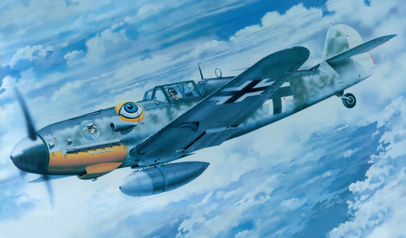 messerschmitt, trumpeter, early, война, модель, небо, art,