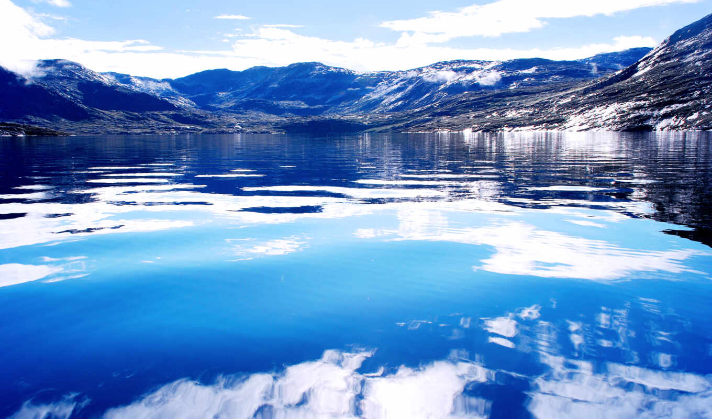 ocean, небо, fon, water, oblaka, самый, берег, пляж, north, океана,