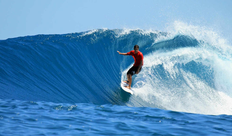спорт, море, лето, волны, вода, океан, человек, люди, surfing,