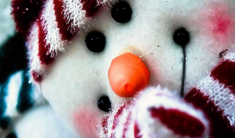 new, год, winter, праздник, снеговик,