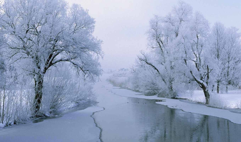 winter, nice, desktop, река, free, дек,